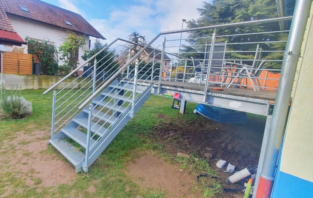 Treppen und Geländer für Terrasse