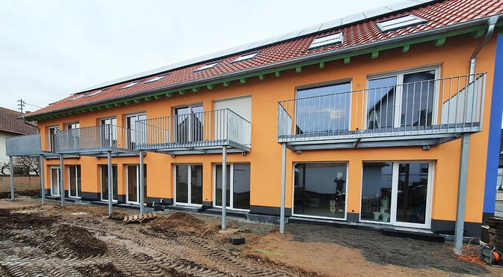 Balkonbau für Reihenhäuser Neubau